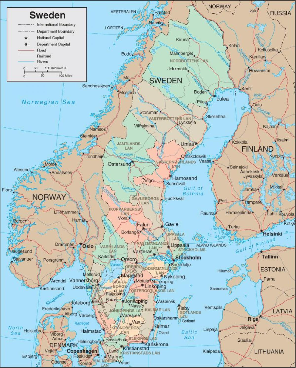 Karte Schweden Zum Ausdrucken.Druckbare Karte Von Schweden Schweden Druckbare Karte