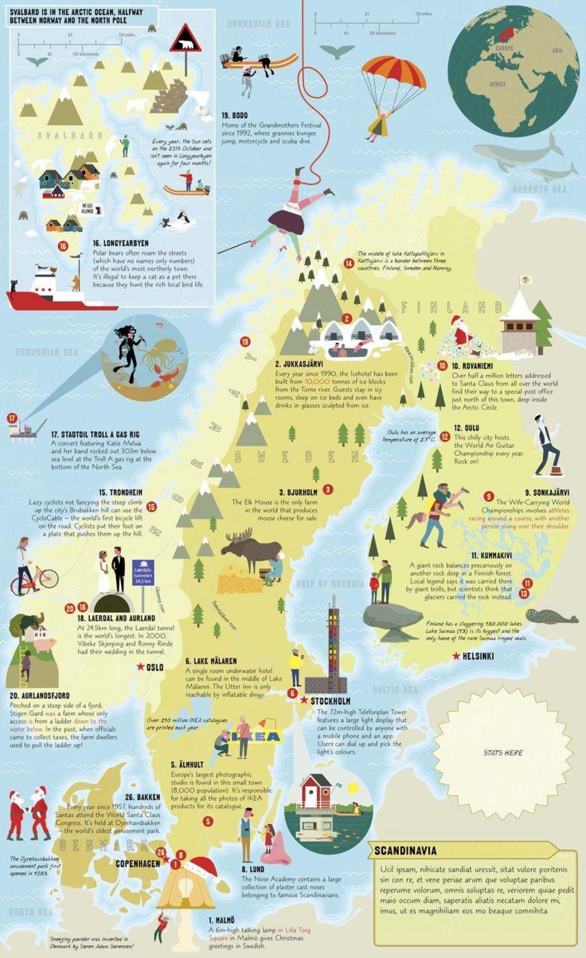 Karte Sehenswurdigkeiten Schweden Karte