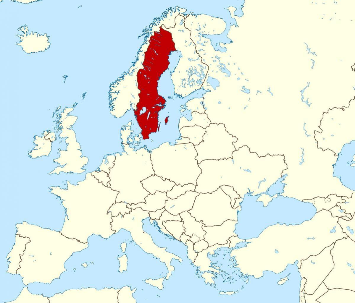 Europakarte Nordeuropa Karte.Schweden Landkarte Europa Karte Von Schweden In Europa Nordeuropa